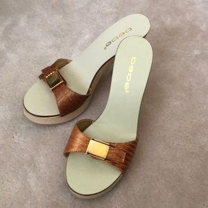 Gently used Bebe slide sandals